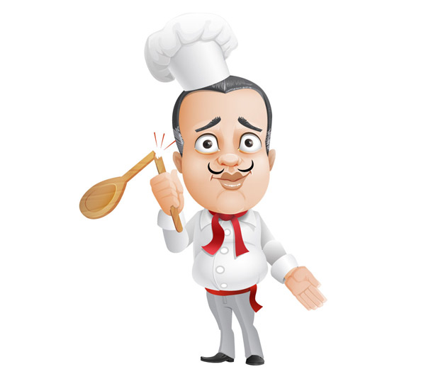 French Chef Vector Character Preview