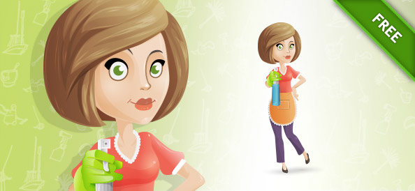 Free Housewife Vector Character