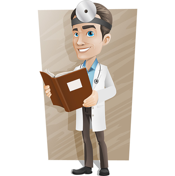 Male Doctor Vector Character Preview