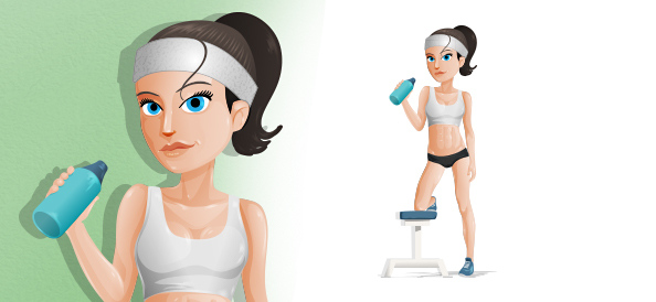 Vector Fitness Girl