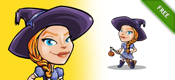 Halloween Girl Vector Character