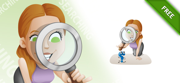 SEO Girl Vector Character