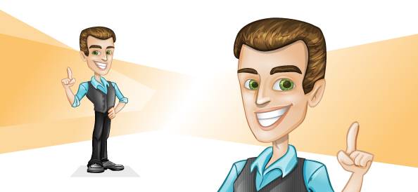 Vector Businessman with Idea