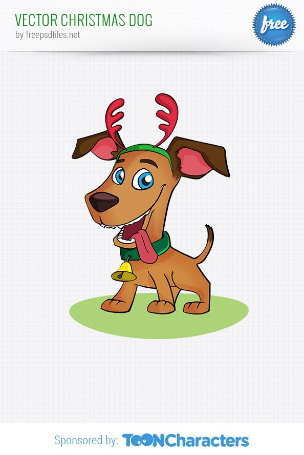 Vector Christmas Dog