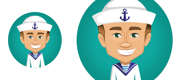 Vector Sailor Character