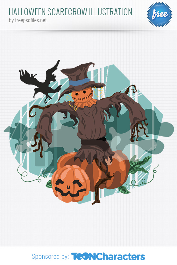 Halloween Scarecrow Vector Illustration