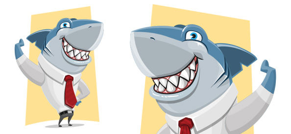 Vector Business Shark