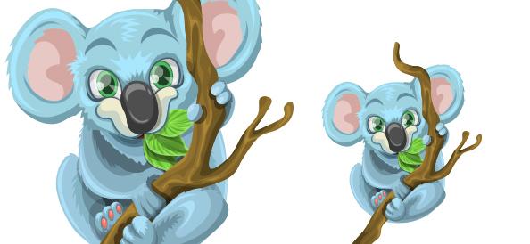Free Vector Koala Character