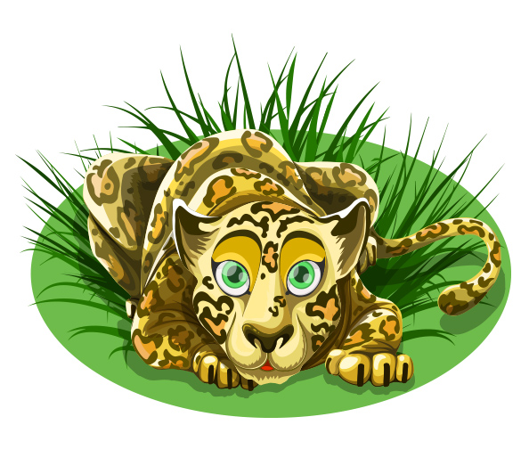 Free Vector Leopard Character