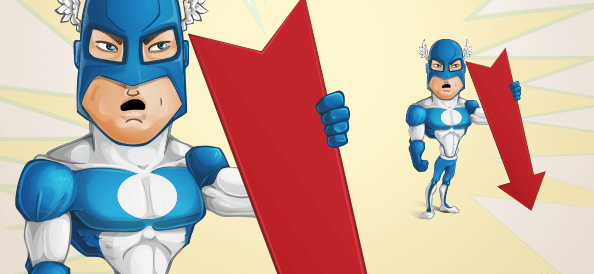 Vector Superhero Character With Arrow