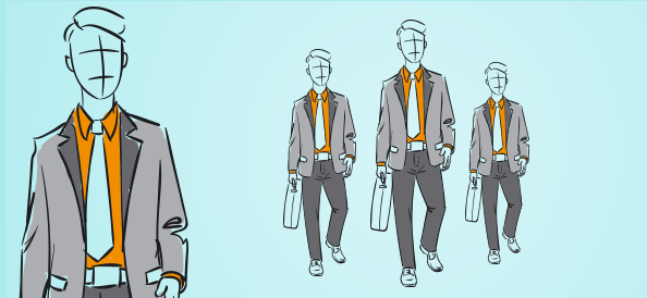 Hand-drawn Outline Businessman