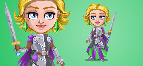 Vector Knight Woman