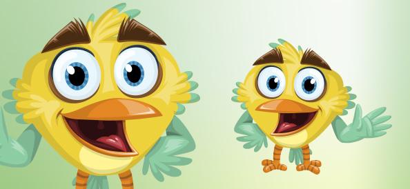 Excited Vector Bird