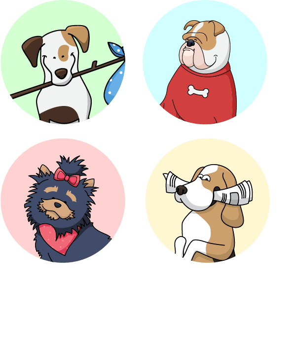Dog Avatars Pack