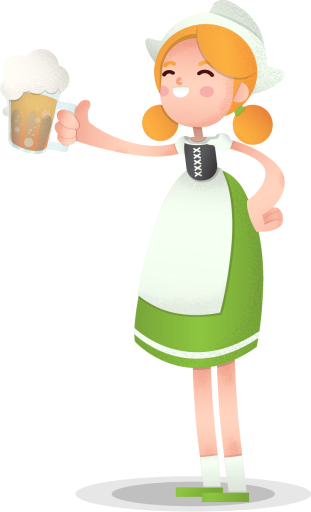 Oktoberfest Girl Vector Character - Free Downalod - VectorCharacters