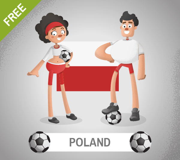 free poland Soccer Cartoon Characters