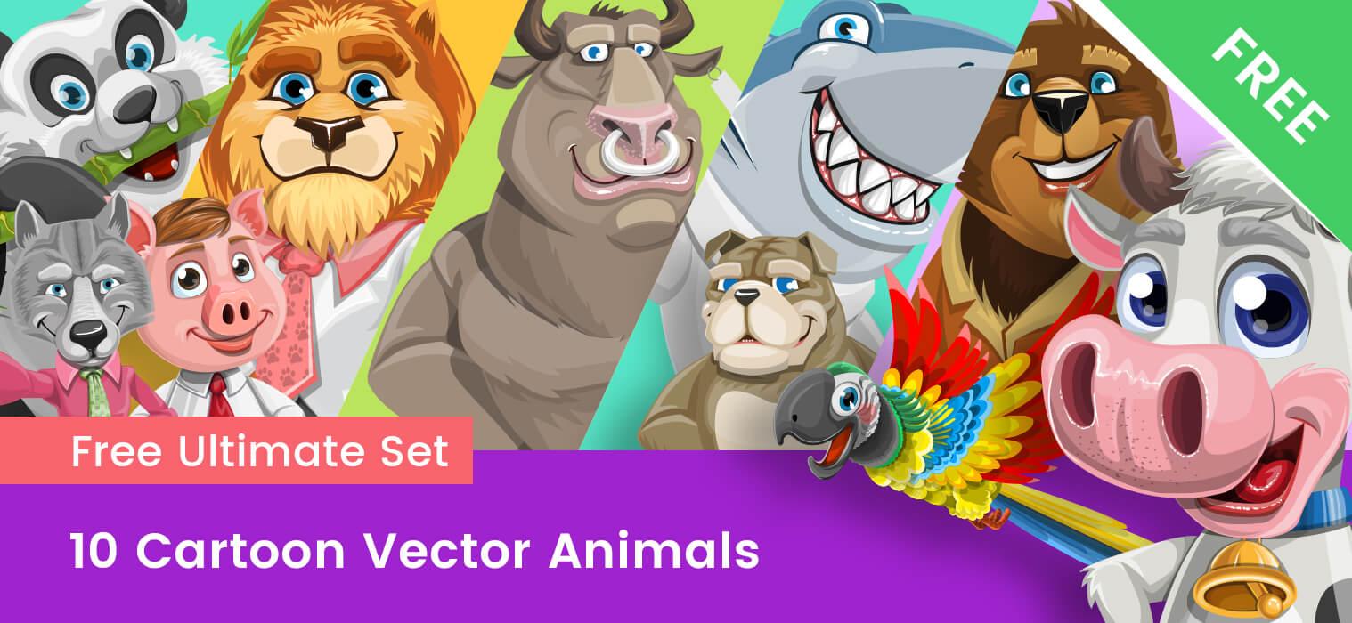 Cartoon Animals – Free Vector Collection
