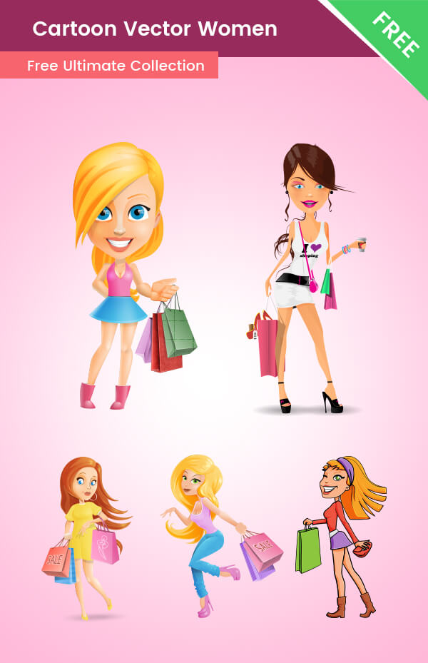 Cartoon Vector Women Free Collection