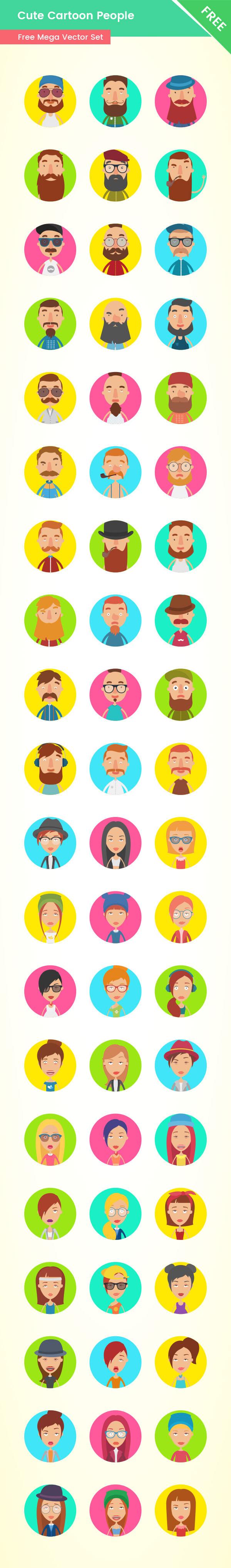 Free Cartoon People - Mega Collection