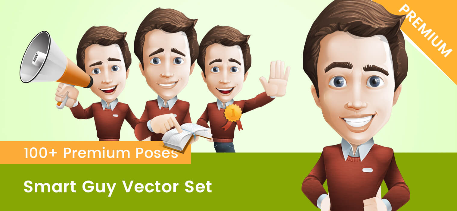 Smart Guy Vector Set