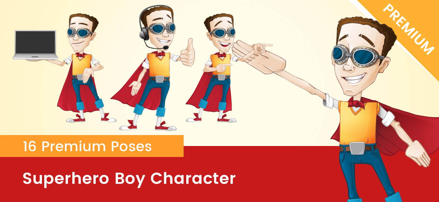 Superhero Geek Vector Character