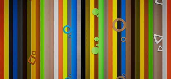 Colorful Background with Abstract Lines