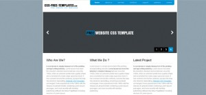 Blue Website CSS Template in Simple Style