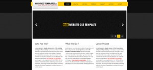 Dark Website CSS Template with jQuery Slider