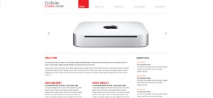 Free Website CSS Template in Black and Red