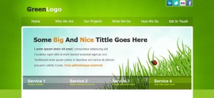 Green Website CSS Template for Business and Portfolio