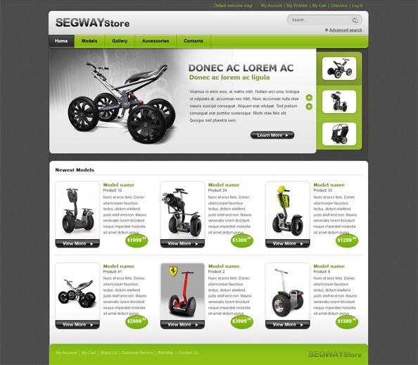 Segway Store - Ecommerce Website CSS Template - Website CSS Templates