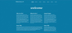 Simple Blue Website CSS Template in Business Style