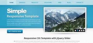 Free Responsive Template - Simple