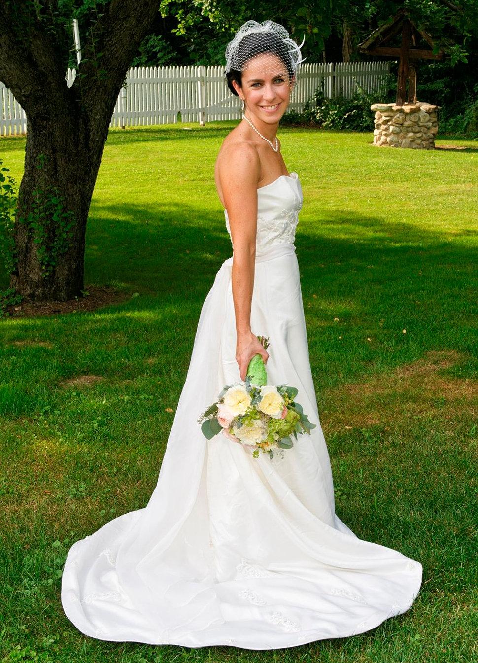 greenandbluedcweddings green wedding dress Wedding Gown