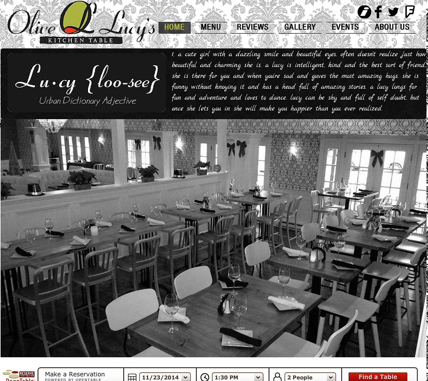 website kitchen table restaurant Olive Lucy s Kitchen Table