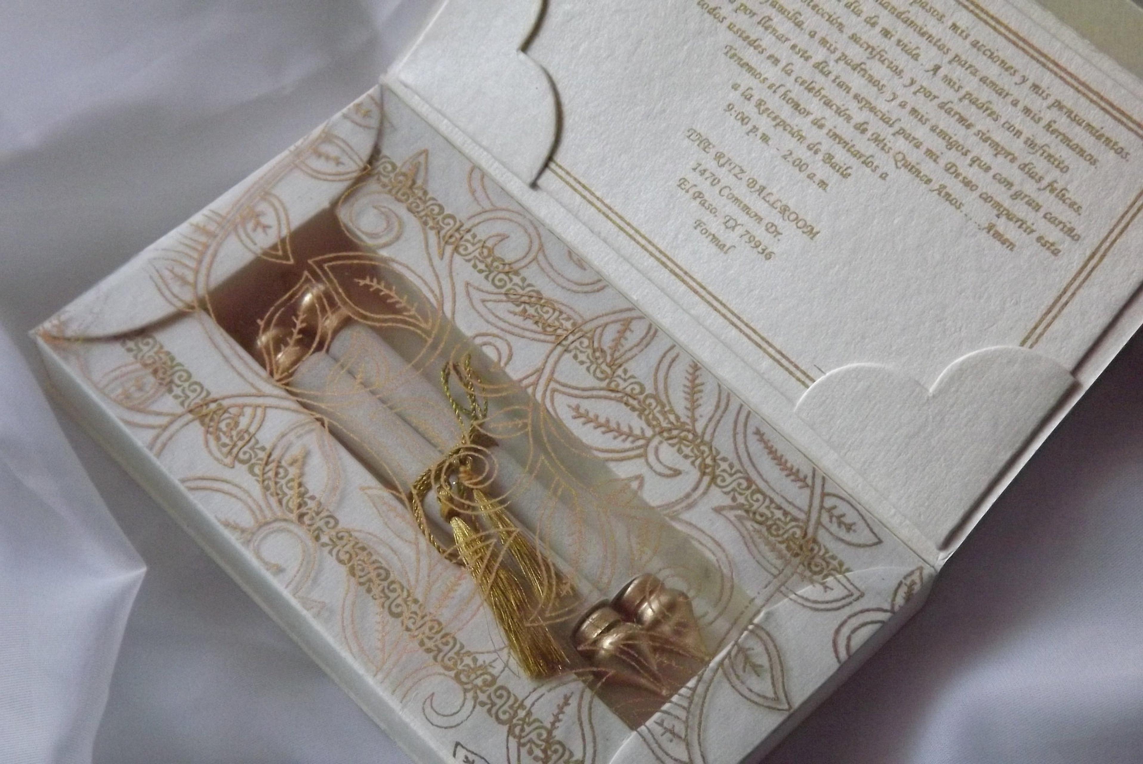 lightbox MPG scroll wedding invitations couture wedding invitation custom wedding invitation White and Gold Scroll Invitation