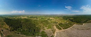 Panorama La Pageze : Clape, Aude et mer