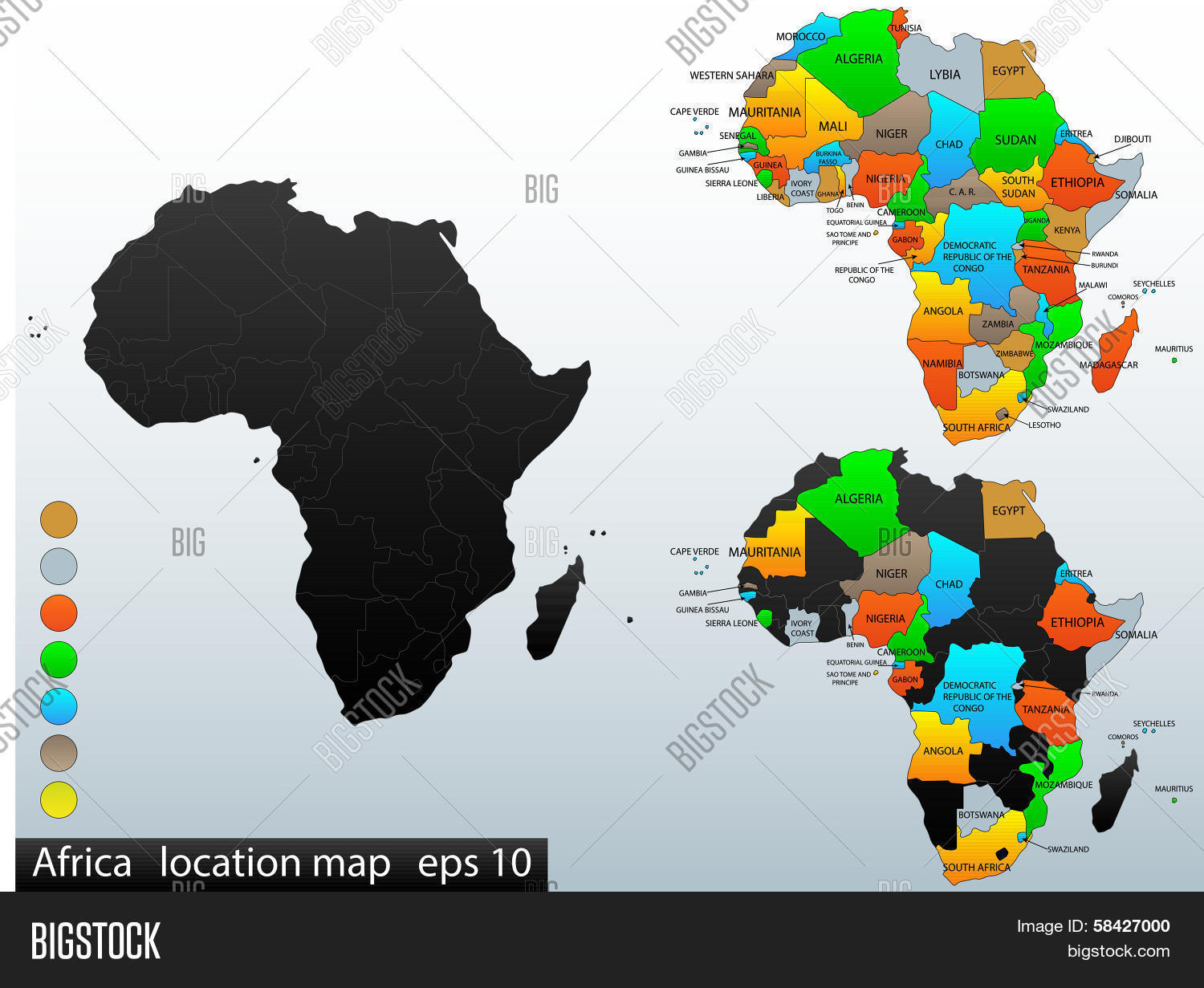 Africa Political Map Vector   Photo  Free Trial    Bigstock Africa political map final