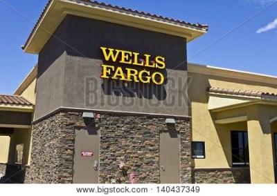 Las Vegas - Circa July 2016: Wells Fargo Retail Bank Branch. Wells Fargo is a Provider of ...