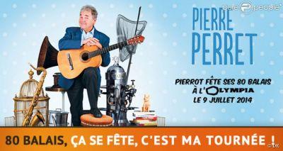 Pierrot fête ses 80 ans à l'Olympia de Paris le 9 juillet 2014....