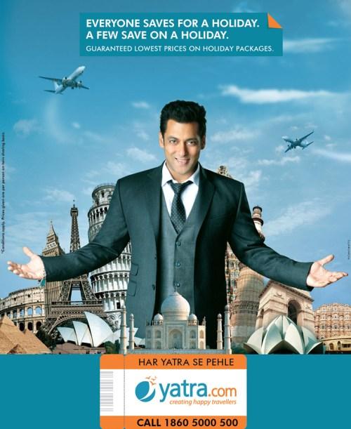 Salman Khan Brand Endorsements yatra net worth