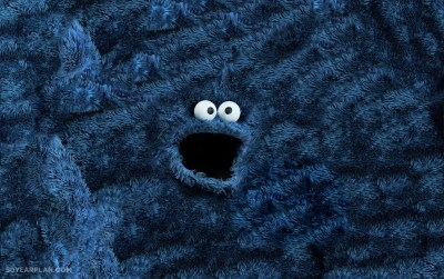 I made Sesame Street Muppets-turned-into-rugs