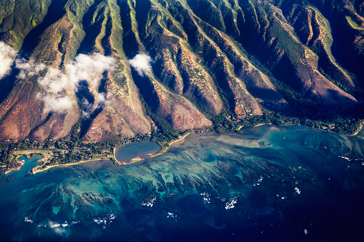 Oahu  Hawaii     Anton Repponen s Blog View of Molokai Island nbsp  form the plane that is situated between Oahu