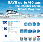 If you're an Interlux paint user, their rebate program is available again this year. We have all the rebate forms in our store to go with the associated products.