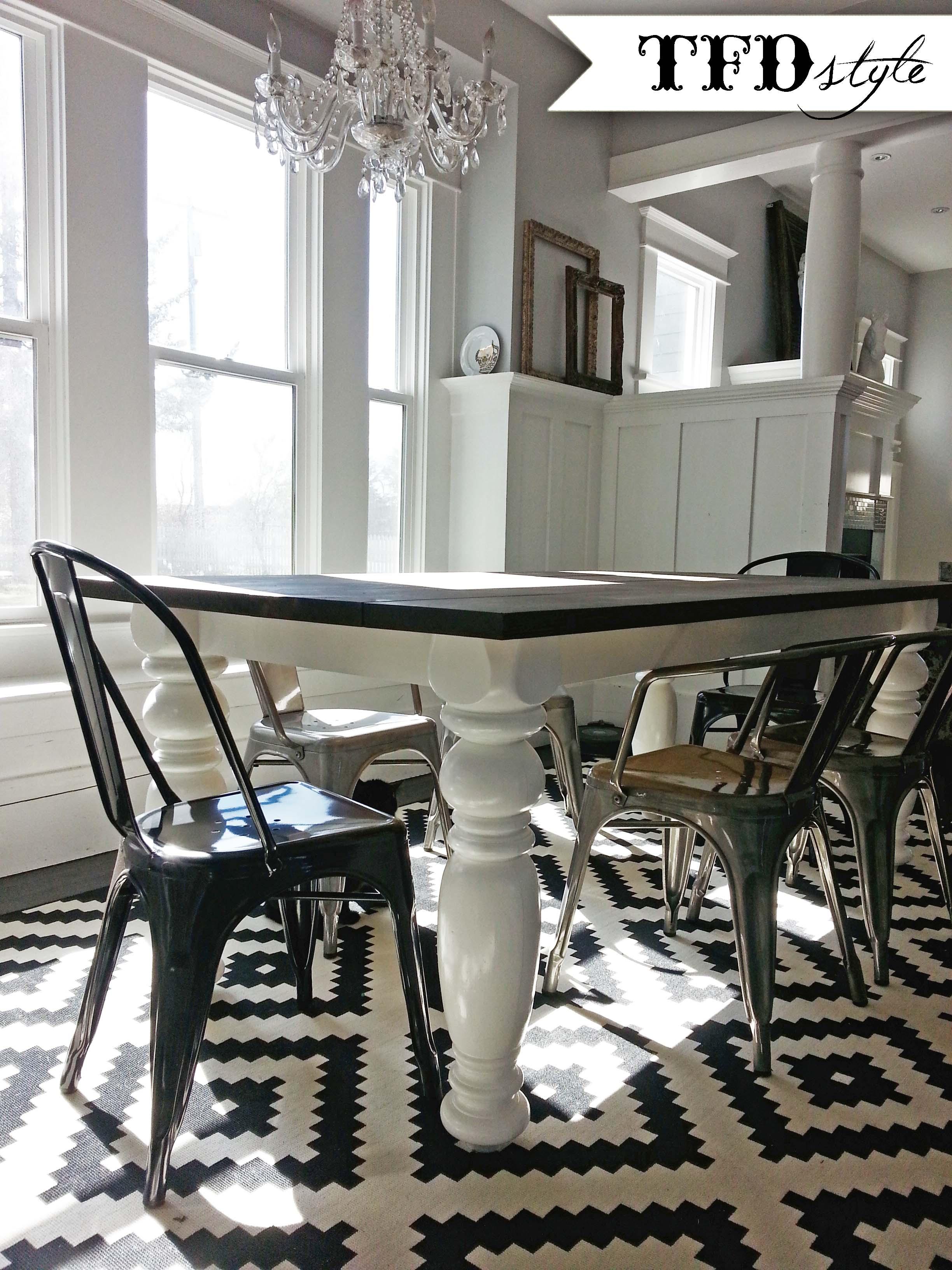 diy farm style dining room table target kitchen chairs Mar 12 DIY Farmhouse Dining Room Table