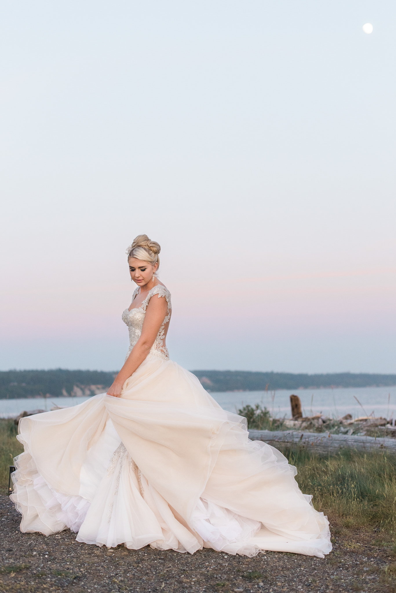 behind the scenes creating movement island wedding dresses Ebey s Landing Beach Wedding Whidbey Island Wedding Photographe