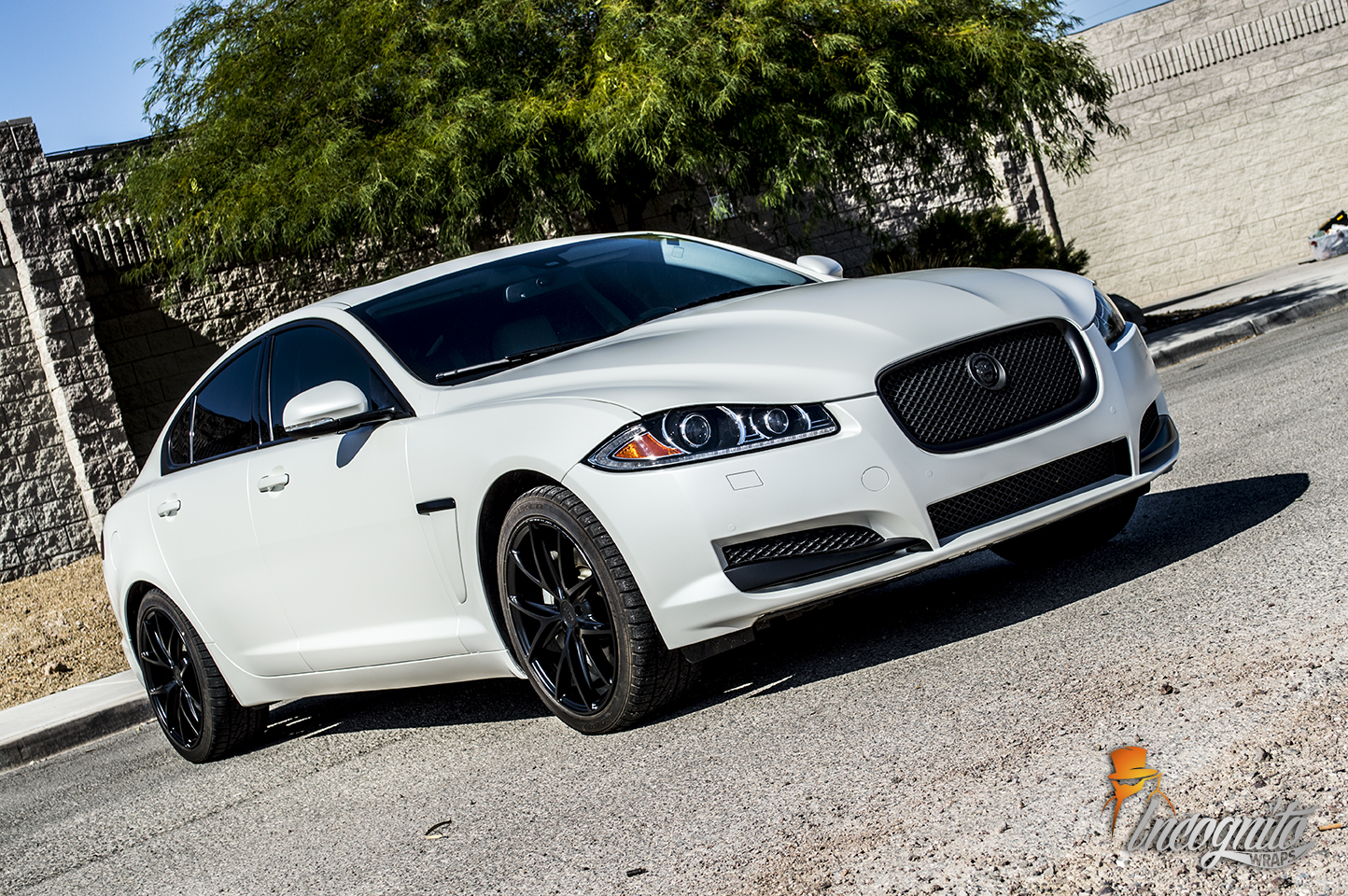 We Have Done This Combination On Many Different Vehicles And It Always  Looks Clean Aggressive. Blacked Out The Chrome Jaguar XF Wrapped ...