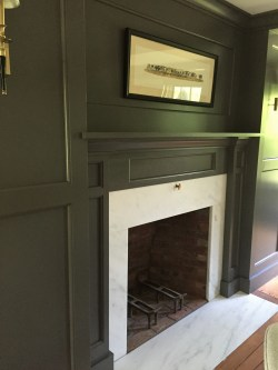 Sturdy Anor If Those Bricks Could We Did Day Fireplace Mjg Vermont Based Benjamin Moore Kendall Charcoal Paint Benjamin Moore Kendall Charcoal Complementary Colors