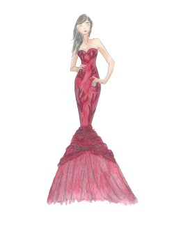 Sterling Red Dress Fashion Design Anel Zarate Design A Dress Design A Dress Template