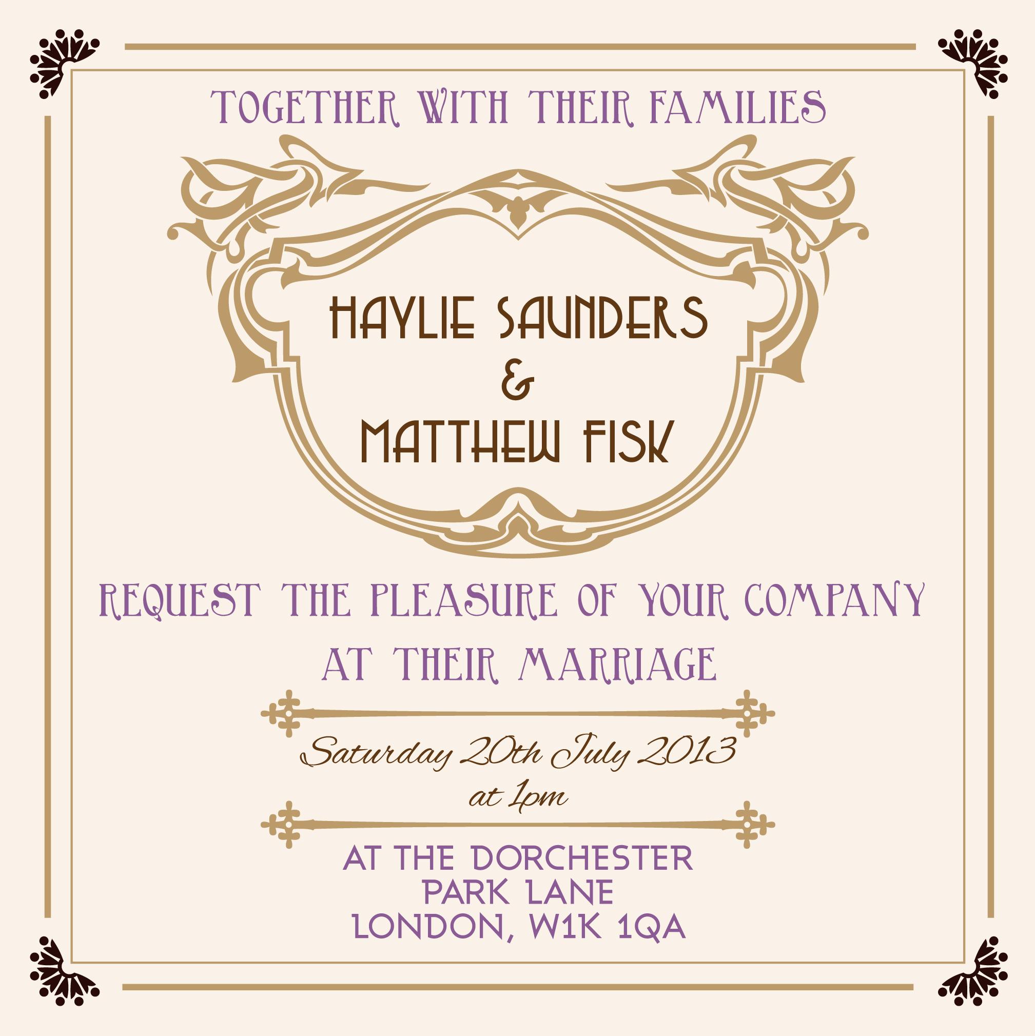 wedding stationery trends gatsby wedding invitations Great Gatsby cream and gold wedding invitation
